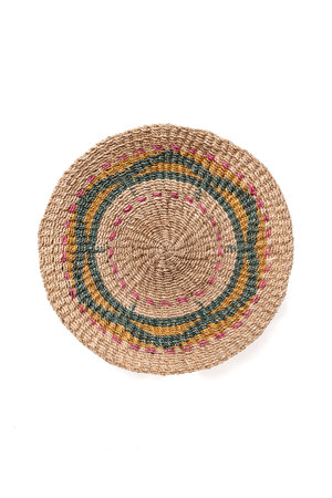 Wall basket jute - multicolor #1