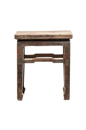 Square bedside table elm wood #6