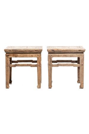 Set of 2 bedside tables, elm wood
