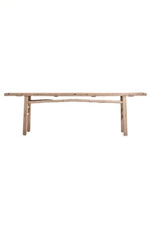 Long sidetable  elm wood 284cm