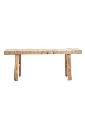 Bench weathered elm wood 130cm