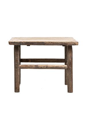 Square coffee table elm #4