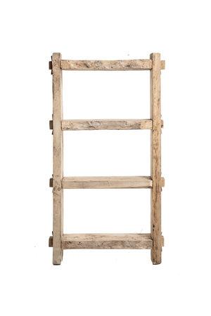 Small robust rack, weathered elm wood