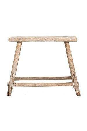 Stool elm wood
