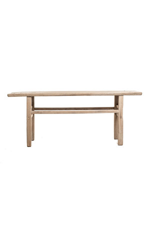 Sidetable elm wood with metal accents