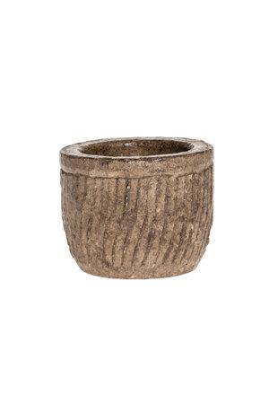 Bowl stone with ribbing #5