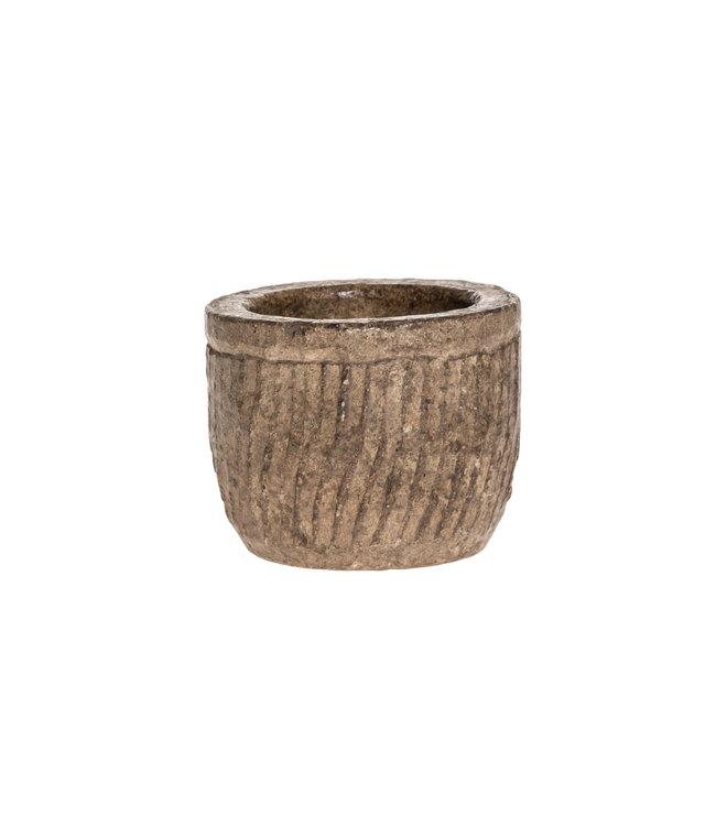 Stenen bowl met ribbels #5