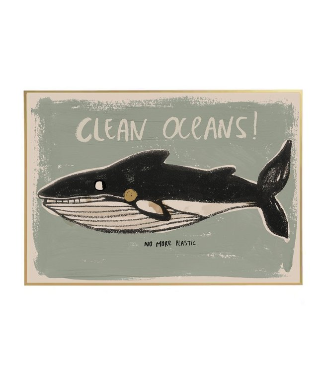 Wall poster 'clean the oceans'