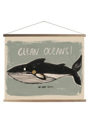 Studio Loco Schoolprint canvas whale