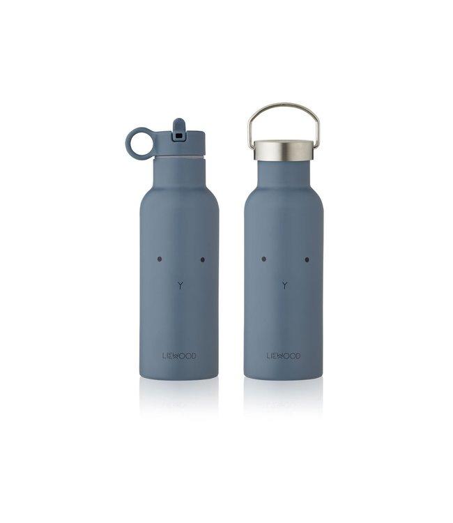 Liewood Neo water bottle - rabbit blue wave