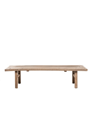 Coffee table elm wood with metal details