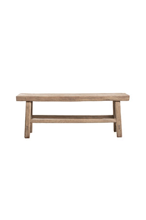 Robust small bench elm wood 135cm