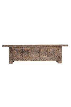 Sculpted bench with 5 doors - India
