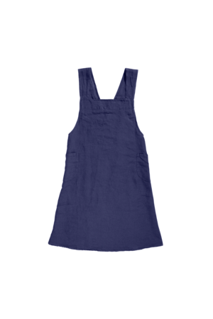 Linge Particulier Japanese apron linen - adult midnight blue