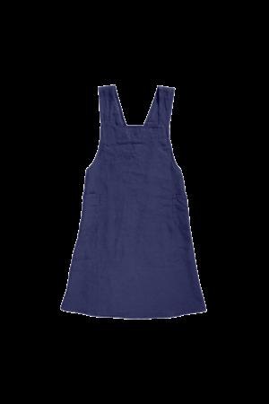 Linge Particulier Keukenschort linnen - midnight blue
