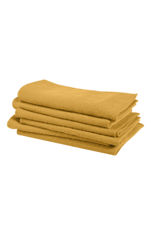 Linge Particulier Servet linnen - honey