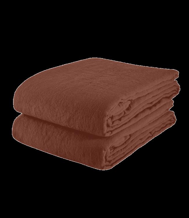 Linge Particulier Tablecloth linen - dark old orange