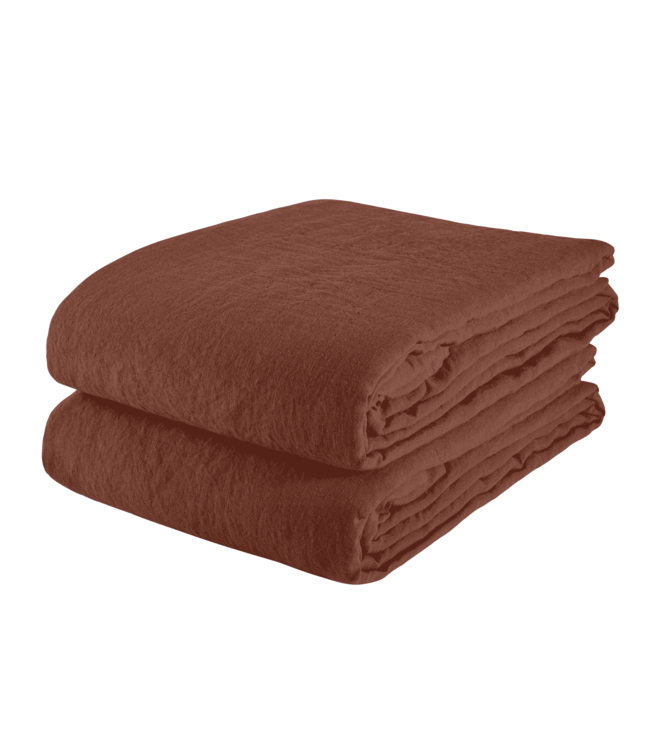Tablecloth linen - dark old orange