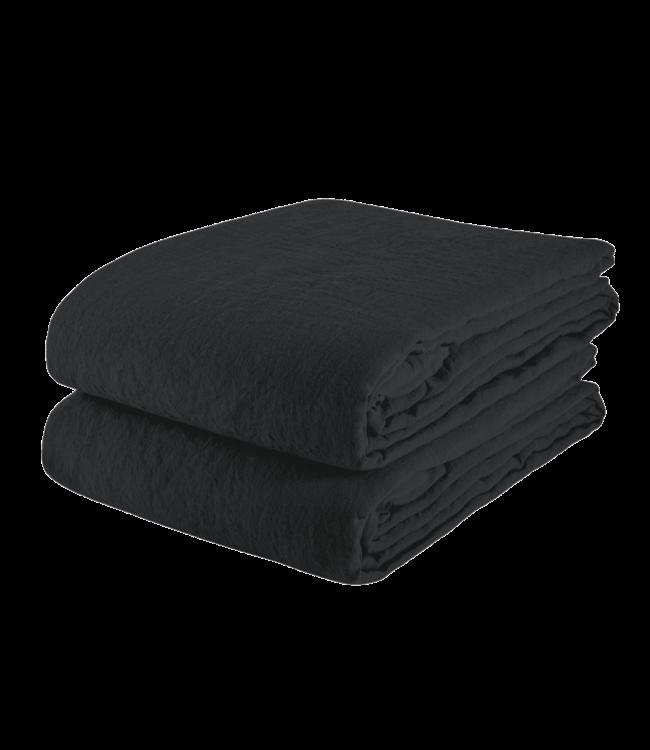 Linge Particulier Tafelkleed linnen - black
