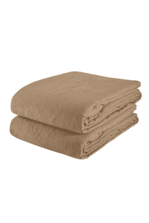 Linge Particulier Tablecloth linen - camel