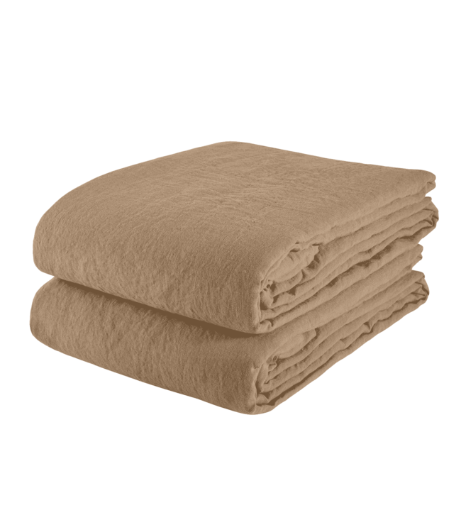 Linge Particulier Tafelkleed linnen - camel