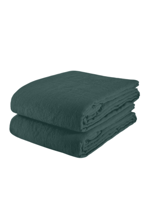 Linge Particulier Tablecloth linen - vintage green