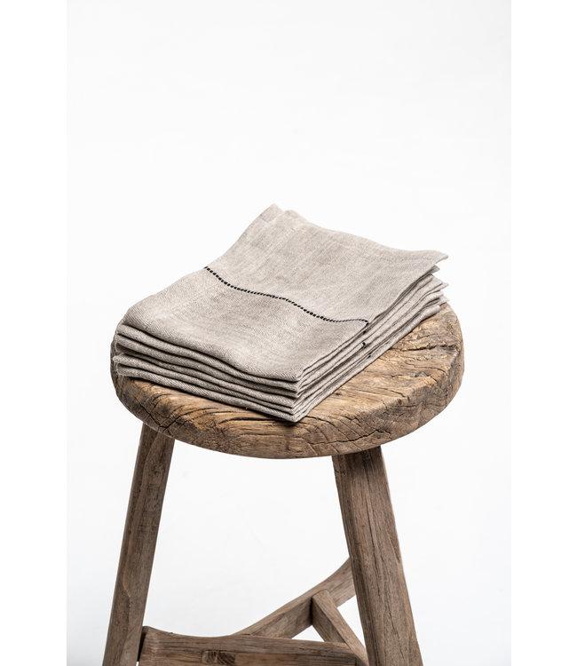 Libeco Davis napkin - herringbone