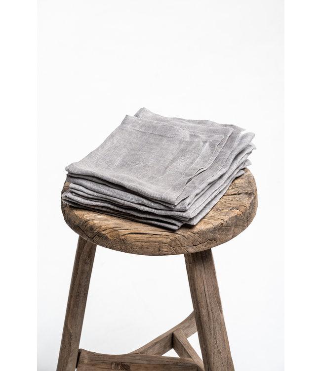 Libeco Fjord washed napkin - ash