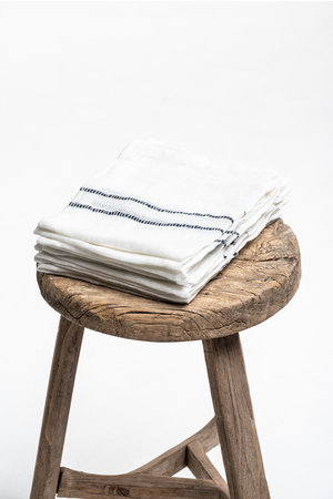 Libeco West hinder napkin - oyster stripe