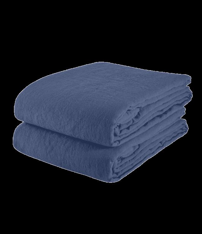 Linge Particulier Tablecloth linen - atlantic blue