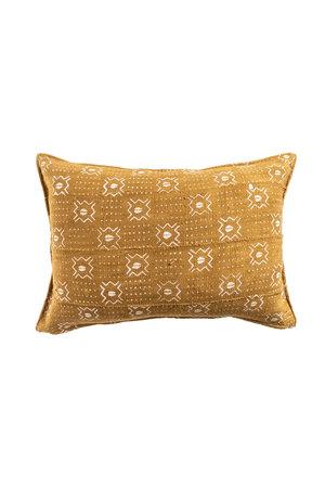 Mudcloth cushion ochre #1