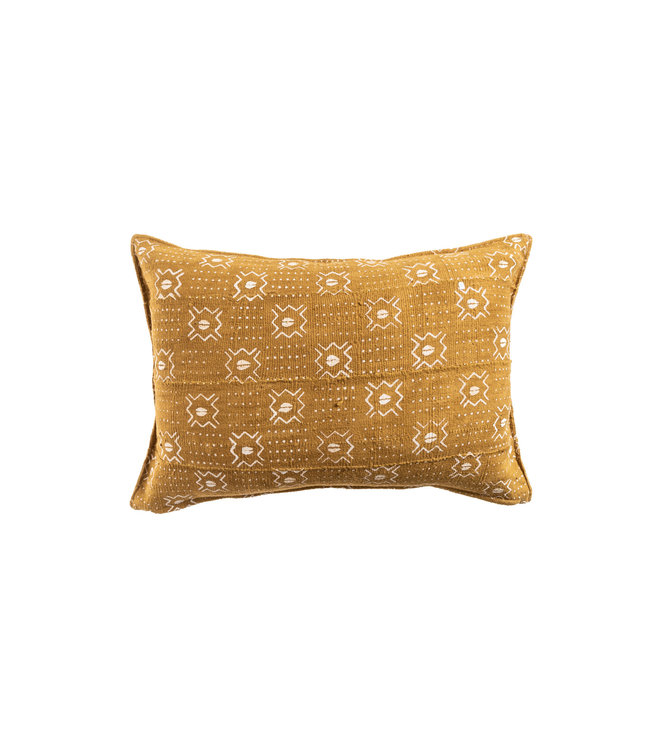 Mudcloth cushion ochre #1