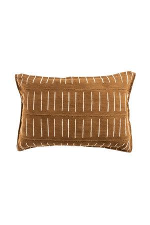 Mudcloth cushion ochre #4