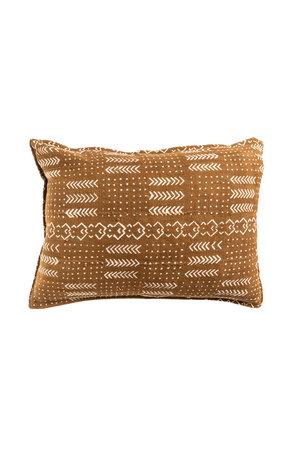 Mudcloth cushion ochre #5