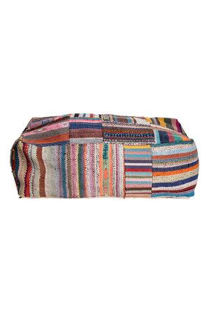 Colorful pouf kilim #1