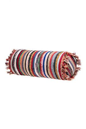 Colorful pouf kilim #2