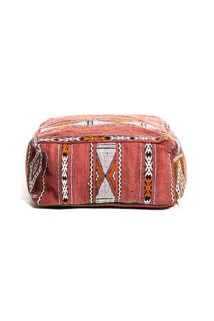 Colorful pouf kilim #3