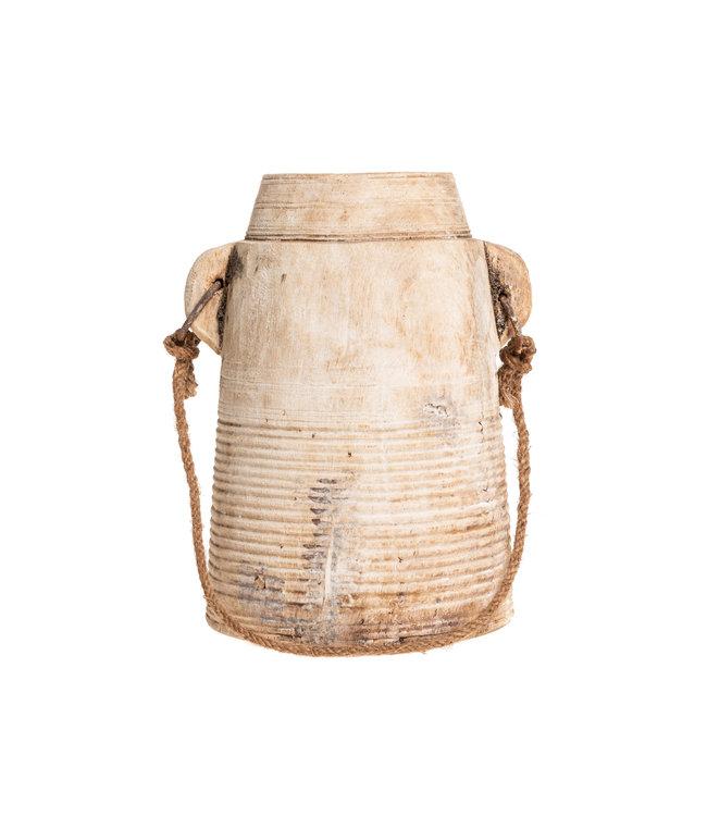 Old wooden water jar - S