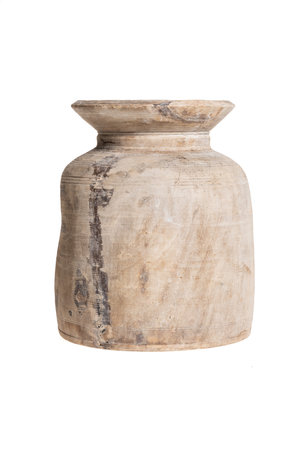 Old wooden water jar - M