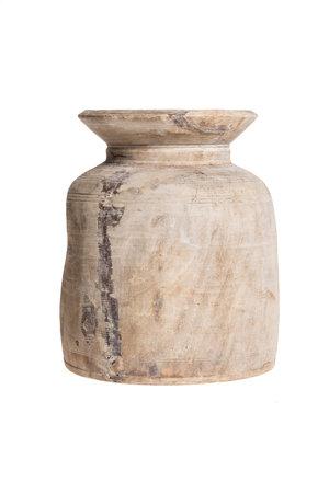 Oude houten waterkruik - M