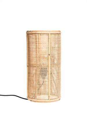 Tafellamp fijn geweven bamboe