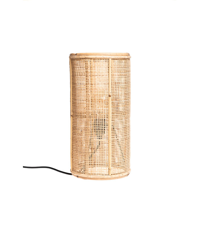 Table lamp fine woven bamboo - naturel