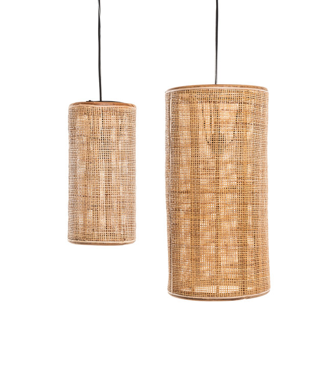 Hanging lamp fine woven bamboo