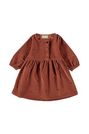 My little cozmo Dress baby dots - rust