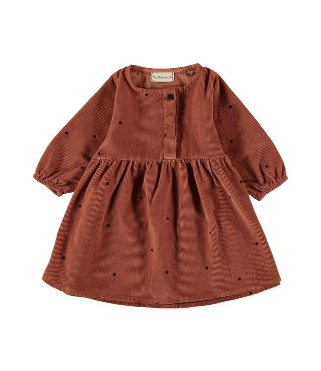My little cozmo Dress baby dots - rust