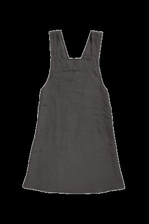 Linge Particulier Japanese apron linen - adult storm grey