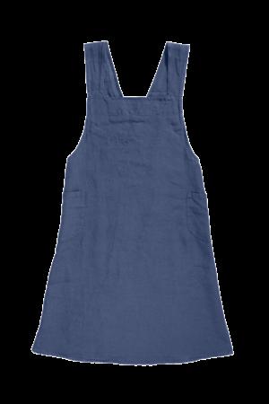 Linge Particulier Keukenschort linnen - atlantic blue