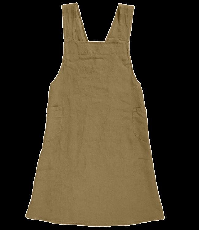 Keukenschort linnen - curry