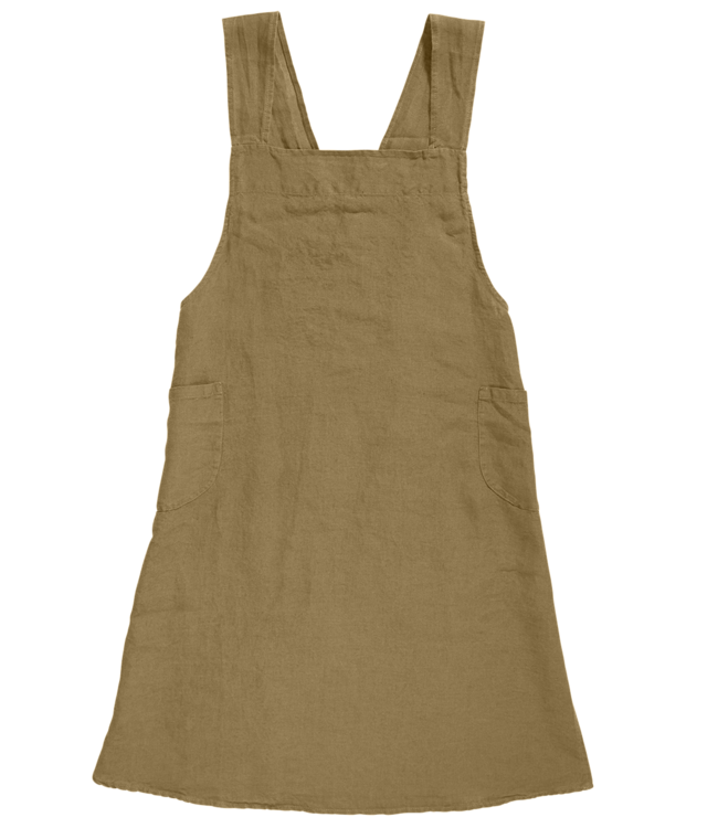 Linge Particulier Japanese apron linen - adult curry