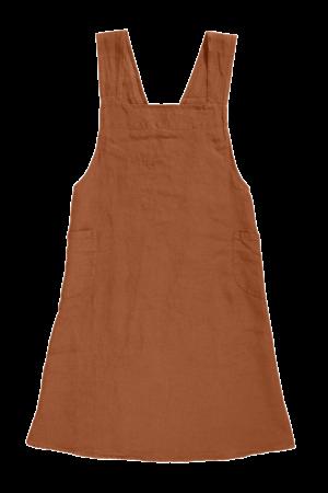 Linge Particulier Japanese apron linen - adult sienna